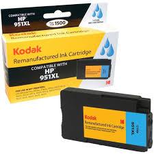 Kodak Remanufactured Ink Cartridge Compatible With HP 951 XL 951XL Blue CN046AN CartridgesPrinter
