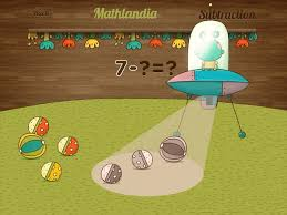 BEST EARLY MATH APP Mathlandia Illustrates The Concept Of Subtractions Using An Alien Spaceship That
