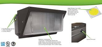 led security light wall pack available in wattages