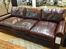 Sofa Rustic Style Tufted Leather Restoration Hardware