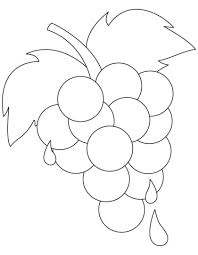 Fresh Ripe Grapes Coloring Pages