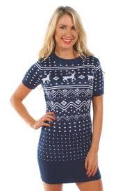 women u0027s reindeer short sleeve sweater dress