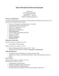 Medical Receptionist Resume Sample Cover Hair Stylist Rh Nickverstappen Com Spa Example Examples For
