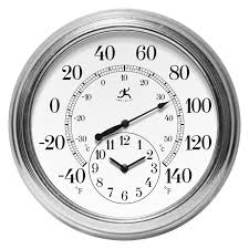 Bed Bath And Beyond Decorative Wall Clocks by Infinity Instruments Hanover 12
