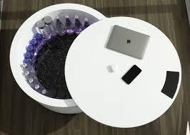 comet smarter nachttisch mit touch display und kühlschrank