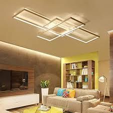 led deckenleuchte rechteckig wohnzimmerle esszimmer 95w dimmbar acryl lenschirm decke pendelleuchte designer len landhaus küche esstischle