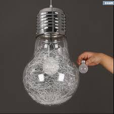 modern creative large bulb pendant lights glass drop light