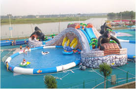 Large Octopus Inflatable Pool With Big SlideGiant Water Park For KidsInflatable Slide In Bouncers From Toys Hobbies On
