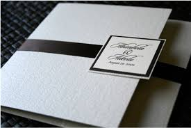 Black And White Unique Wedding Invitation