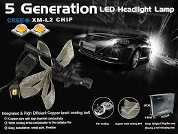 peugeot h7 cree 5g xenon led car conversion light hid kit 5000lm