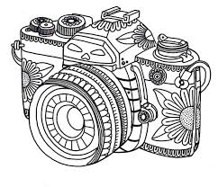 Floral Camera Coloring Page At Pokoloruj Swiat