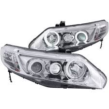 honda civic coupe 2006 2011 projector headlights chrome halo led