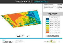 chambre agriculture 45 modulation d azote sur colza grâce au drone de la chambre d