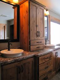 Bathroom Unique Vanities Furniture Style Pertaining To Rustic Vanity Double Sink