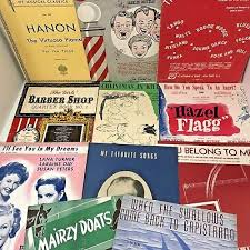 Vintage Sheet Music Song Book Lot Barber Shop Hanon Movie Songs 4 Books 7 Sheets