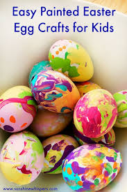 YOUR KIDS WILL LOVE THIS SUPER EASY EASTER EGG PAINTING CRAFT FOR Plus