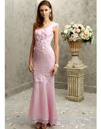 buy tailor made beautiful pink one shoulder chiffon evening