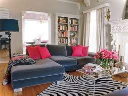 Grey Sectional Living Room Ideas by Zebra Carpet And Grey Sectional Sofa Set For Living Room Design