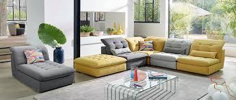 canapé composable canapés d angle en cuir cuir de buffle cuir et tissu cuir