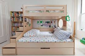 full size bunk bed with trundle diy full size bunk bed modern