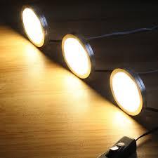 Litever LED Under Counter Lighting Fixtures Plug In 6 PCS 12
