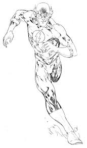 Online For Kid The Flash Coloring Pages 46 With Additional Print
