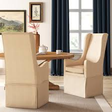 Farmhouse Dining Chairs & Benches | Birch Lane Jf Chair Covers Excellent Quality Chair Covers Delivered 15 Inexpensive Ding Chairs That Dont Look Cheap How To Make Ding Slipcovers Tie On With Ruffpleated Skirt Canora Grey Velvet Plush Room Slipcover Scroll Sure Fit Top 10 Best For Sale In 2019 Review Damask Find Slipcovers Design Builders