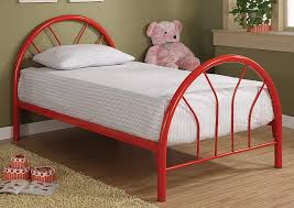 Your Cost Furniture Red Metal Twin Bed