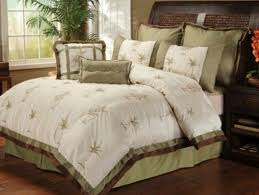 Amazon Palm Tree Tropical Queen forter Set 8 Piece Bed In