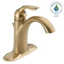 Delta Trinsic Bathroom Faucet Champagne Bronze by Delta Lahara Single Hole Single Handle Bathroom Faucet With Metal