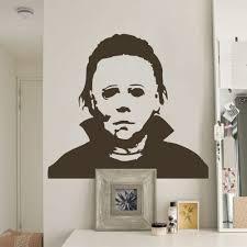 Michael Myers Pumpkin Stencil by Aliexpress Com Buy Michael Myers Halloween Amok Vinyl Wall