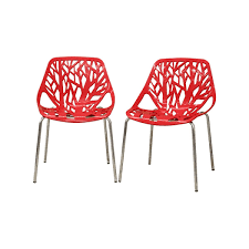 100 Birch Dining Chairs Sapling Red Plastic Modern Chair See White