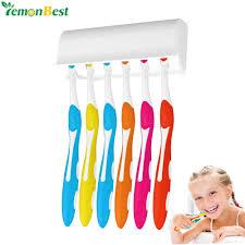 wandhalterung zahnbürstenhalter ständer für 6 toothbrushs mit abdeckung doppelseitiges klebeband einfache installation badezimmer set zubehör
