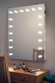 large makeup table wall mirror with bulb lights of mirror with