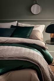ultra chic bedding in green gold bettwäsche beige beige