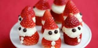 dessert aux fraises façon père noël recette gâteau facile