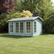 6x5 Shed Double Door by 5m X 4m Director Log Cabin Double Door Garden Building Summer