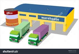 Warehouse Truck Storage Logistics Transportation Merchandise Stock