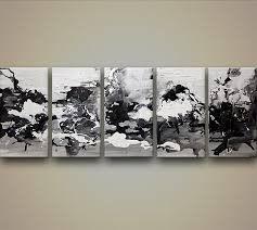 Buy White Black Abstract Painting 7576