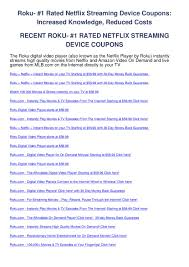 Roku- 1 Rated Netflix Streaming Device Coupons By Coupon Codes - Issuu 58 Sharp Roku 4k Smart Tv Only 178 Deal Of The Year Coupon Code Coupon Sony Wh1000xm3 Anc Bluetooth Headphones Drop To 290 For Rakuten Redeem A Sling Promo Ca Crackberry Shop Online Canada Free Shipping Coupon Codes Online Coupons Promo Dell Macys Codes August 2019 Findercom Earthvpn New Roku What Are The 50 Shades Of Grey Books