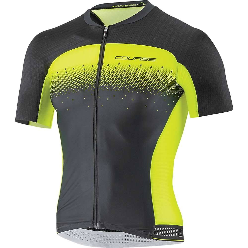 Louis Garneau Course M-2 Race Jersey - Men's Black / Bright Yellow XL