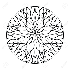 100 Natural Geometry Circular Ornament From Flowing Lines Vector