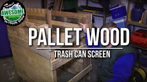 make a pallet wood trash can screen cheap u0026 easy ta outdoors