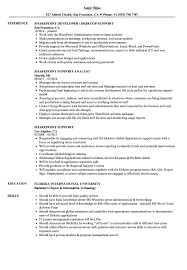 Download Sharepoint Support Resume Sample As Image File
