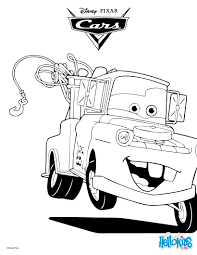 Color Mater The Tow Truck A Nice Coloring Page Of Famous Disney Movie Cars