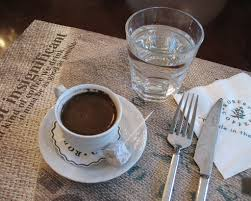 Turkish Coffee Delight And A Glass Of Water
