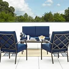 grand resort fairfax 4pc seating set blue olefin outdoor living