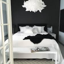 Love The White Bedding On Black Bed
