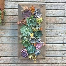 20x10 Living Wall Succulent Planter Vertical Hanging Garden Art Rustic Wood Arrangement Flower