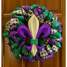 Burlap Mardi Gras Door Decorations by 13